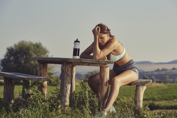Dehydrated Women Athlete